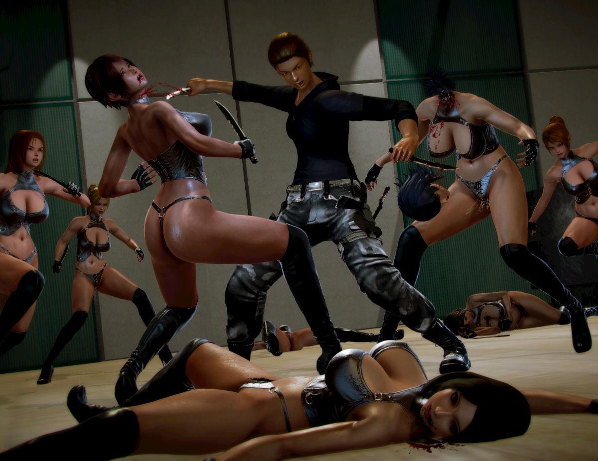 Hình ảnh 037 in Truyện Hentai 3D Nữ chiến binh Ryona