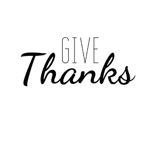 Give Thanks graphic made in Canva