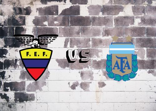 Ecuador vs Argentina  Resumen & Partido Completo