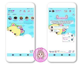 Cute Unicorn Theme For YOWhatsApp & RA WhatsApp By Ainesey