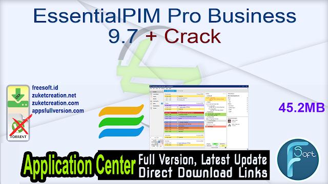 EssentialPIM Pro Business 9.7 + Crack