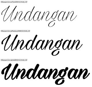 Download 40+ Font Latin Keren Untuk Desain Undangan Pernikahan, Milasian Circa