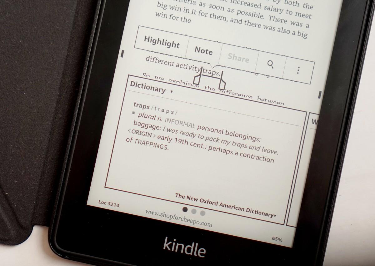 fitur kamus di kindle