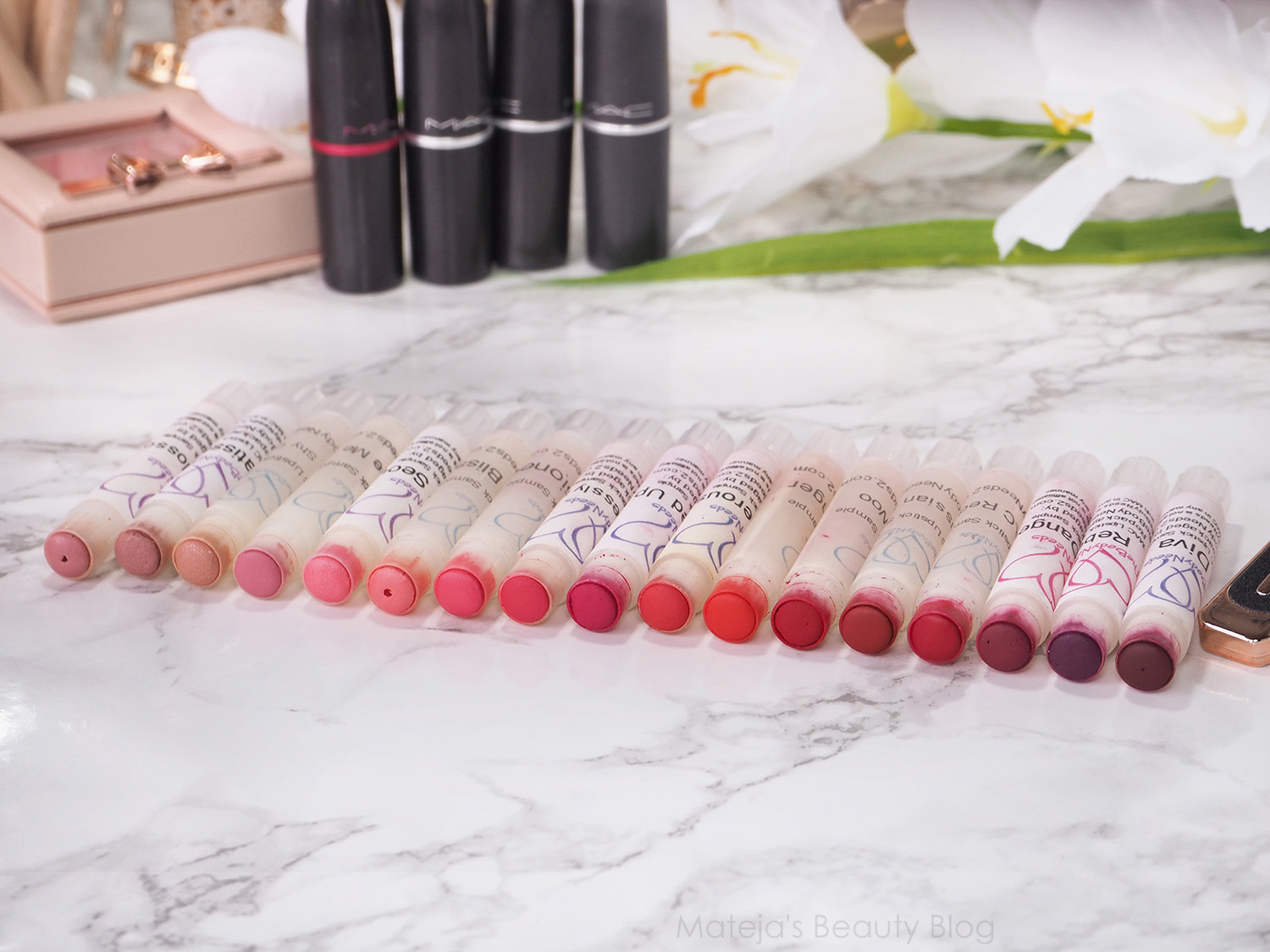 20 Mac lipsticks swatched plus their dupes