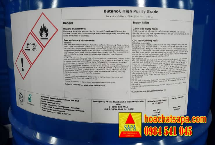 n-Butanol (Nomar Butyl Alcohol)