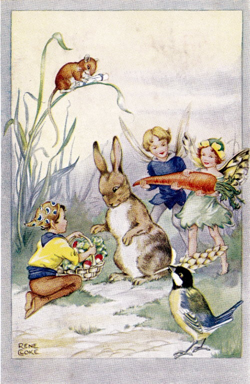 Rene Cloke Postcard The Rabbit's Birthday