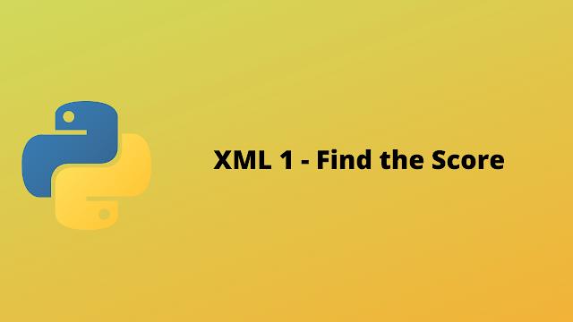 HackerRank XML 1 - Find the Score solution in python