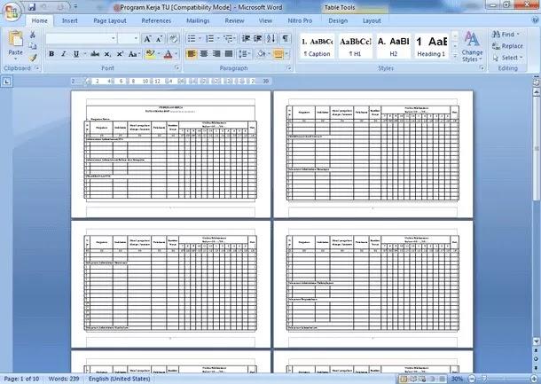 Contoh Administrasi Tata Usaha Sekolah Lengkap dengan Program Kerja