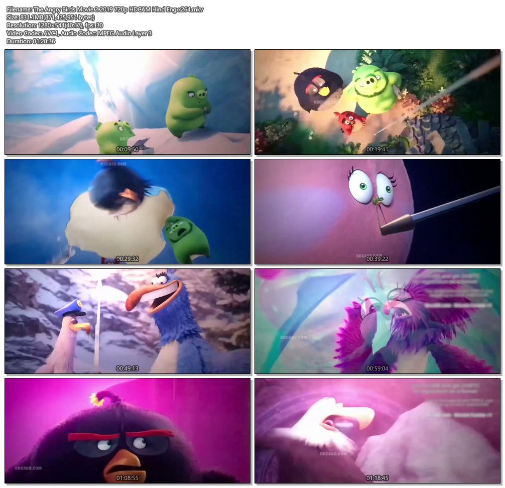 The Angry Birds Movie 2 2019 720p HDCAM Hind Eng x264 | 480p 300MB | 100MB HEVC Screenshot