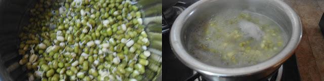 Sweet Payaru Sundal | Sweet Mung Beans Sundal