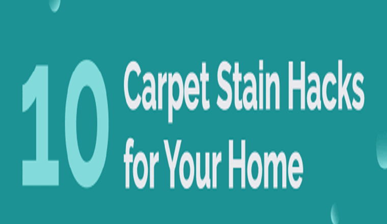 The Best Carpet Stain Removal Hacks #infographic