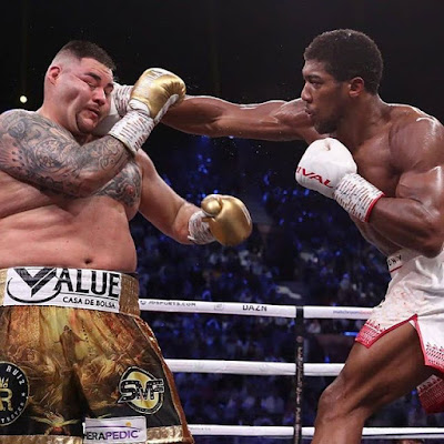 Ruiz Receives Several Punches from Anthony Joshua