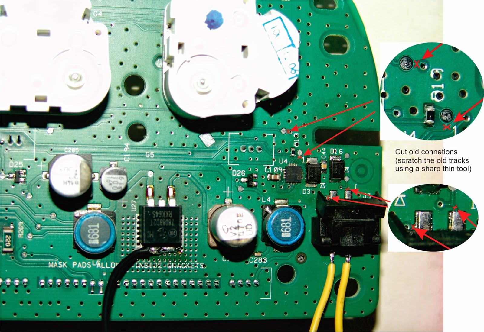 Chrysler Sebring | Dodge Caliber | Dodge Avenger Instrument Cluster Light  Repair: Repairing