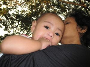 Image: Shaddy with the godmother at the park. Photo credit: Eleanore Fern Pagaduan on FreeImage