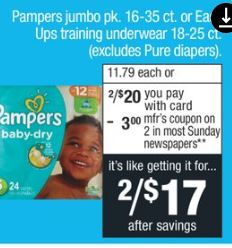 Pampers Jumbo Packs of Diapers