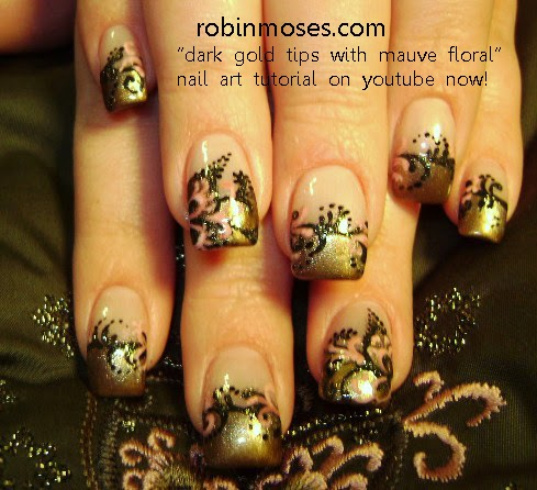 Nail Art By Robin Moses Fall Leaves Fall Nails Fall Nail Art