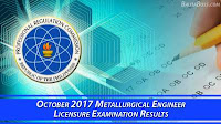 Metallurgical Engineer October 2017 Board Exam