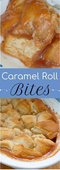 Get breakfast on the table fast with these 4 ingredient caramel roll biscuit bites! Easy, delicious and use any flavor ice cream to make it different every time! The whole family will love this recipe!