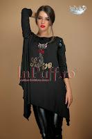 Bluza neagra Cat Love asimetrica