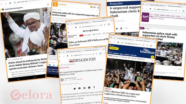 Penembakan Pengawal HRS Hebohkan Media Sedunia