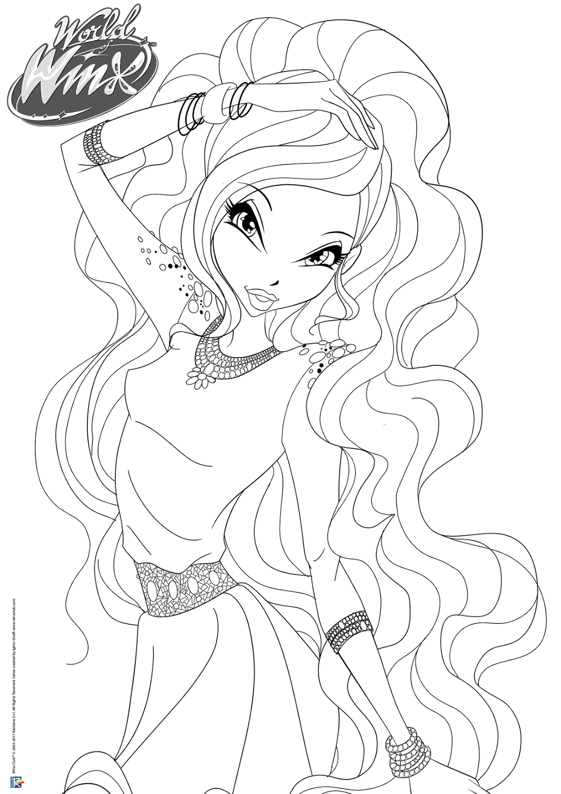 World Of Winx Coloring Pages Casual Outfit