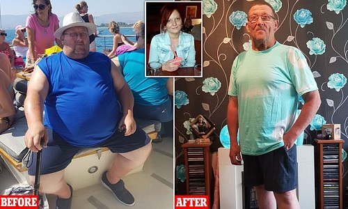 Grand dad, 56, loses 12 stone after promising his dying daughter he would slim down to look after her Three children