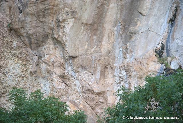 Наскальные рисунки в Липцах Черногория