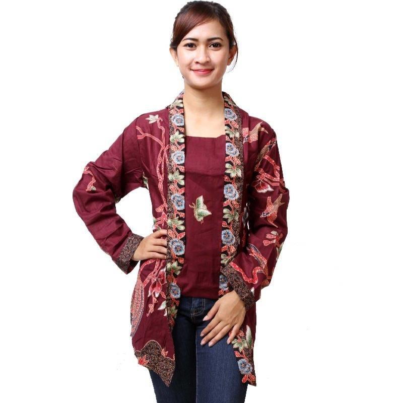 Model Baju Kombinasi Batik: 50+ Model Baju Batik Wanita Kombinasi 2019 Yang Mempesona