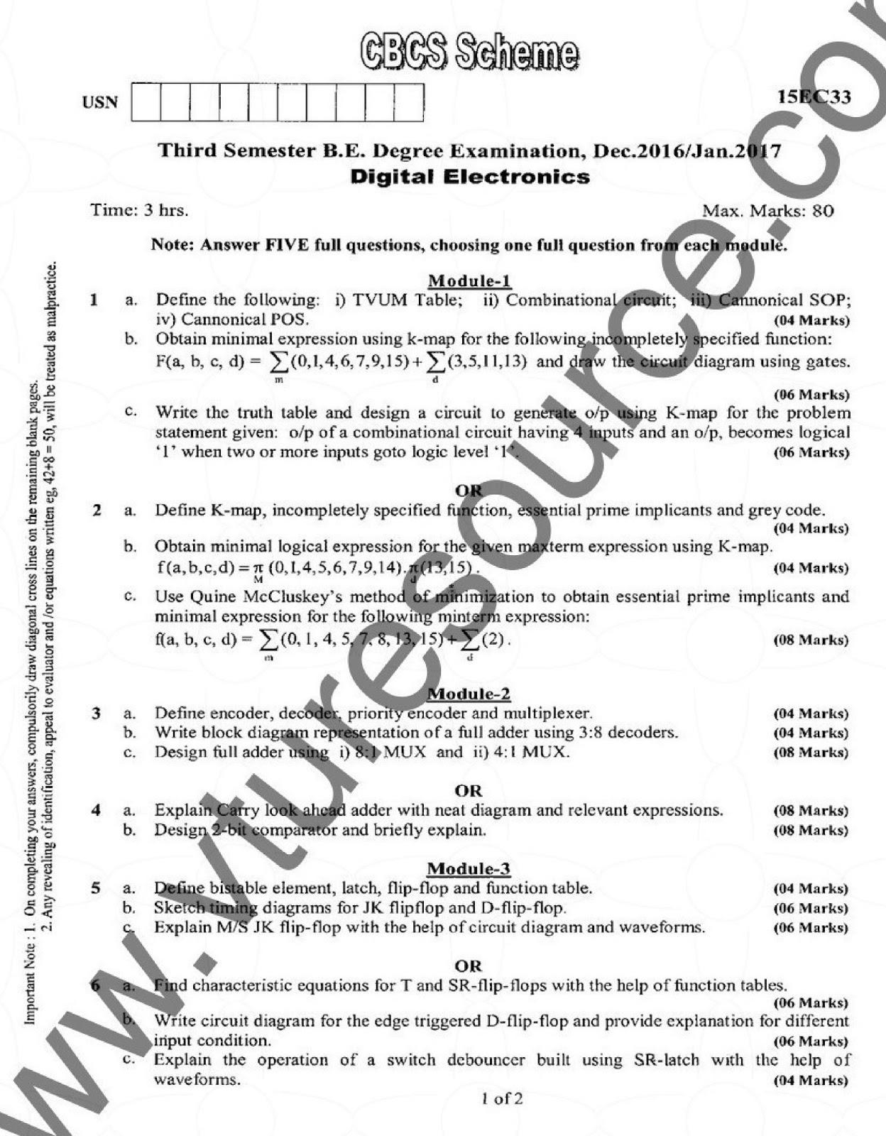Cbcs question papers