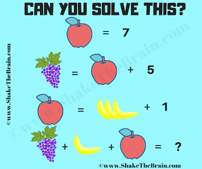 This is an easy Math Picture Brain Teaser to test your maths skills