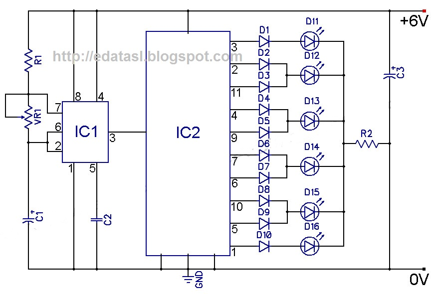 Electronic Circuit Componnent Data Lesson And Etc 4017 Cmos