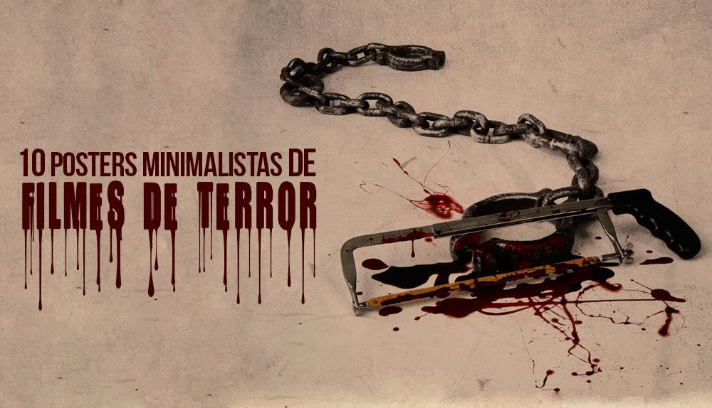Famosos 10 Posters minimalistas de filmes de terror | Blog 365 Filmes QR48