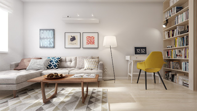 Home Tour por un apartamento con patrones geométricos