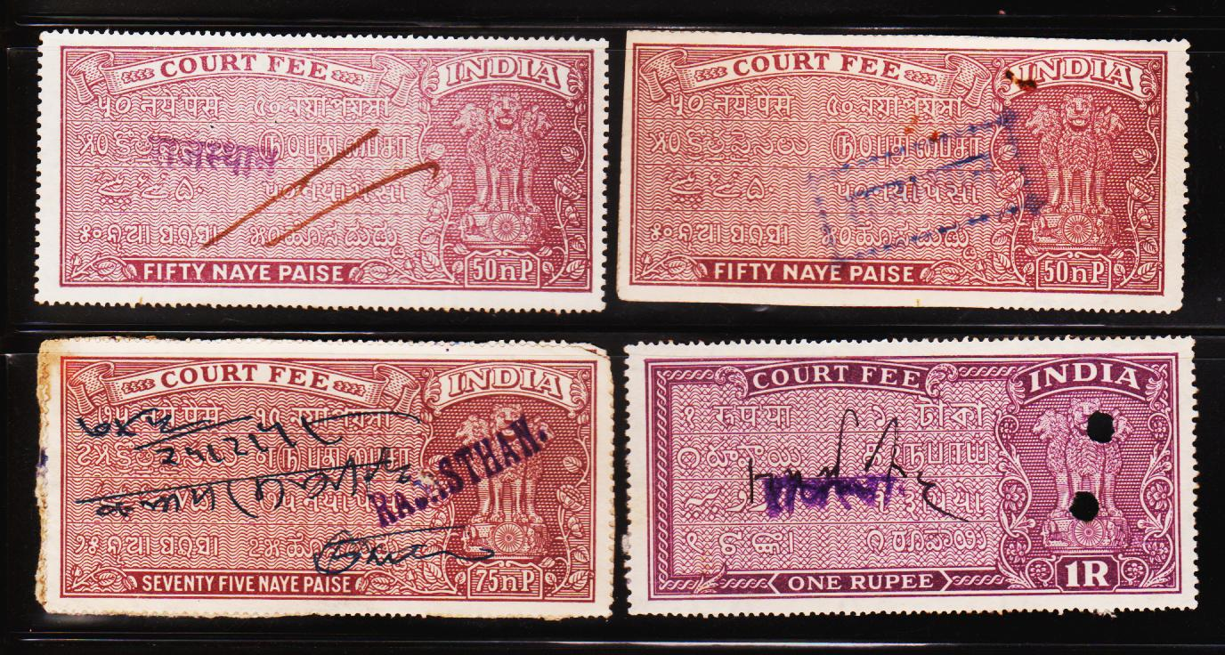 Heritage Of Indian Stamps Site India Court Fee Stamps