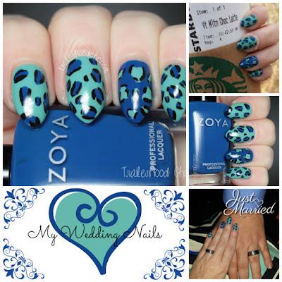 leopard print wedding nails