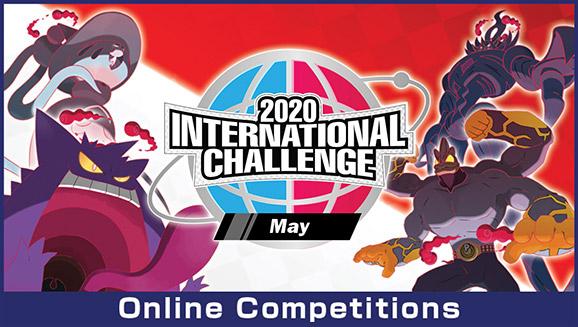 Pokémon Sword e Shiel Desafio Internacional de Maio 2020