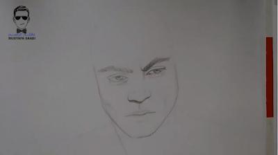 رسم الوجه بالرصاص خطوة بخطوة