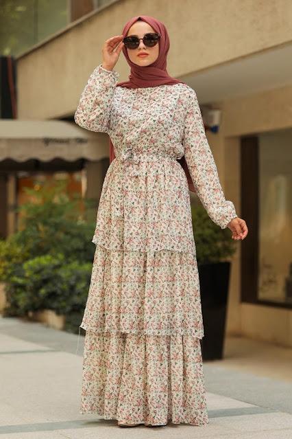 Paterrned Long Dress