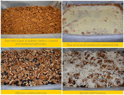 Magical Cookie Bars collage