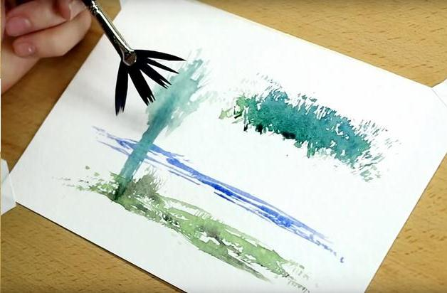 file:Watercolor brush paint Best Tips.svg