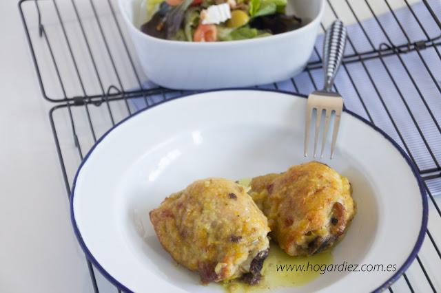Pollo al horno en salsa