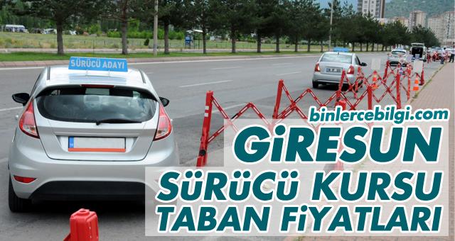 Giresun Sürücü Kursu Fiyatları 2021, Giresun'da uygulanan Ehliyet Kurs Ücretleri 2021 Taban Fiyat Listesi