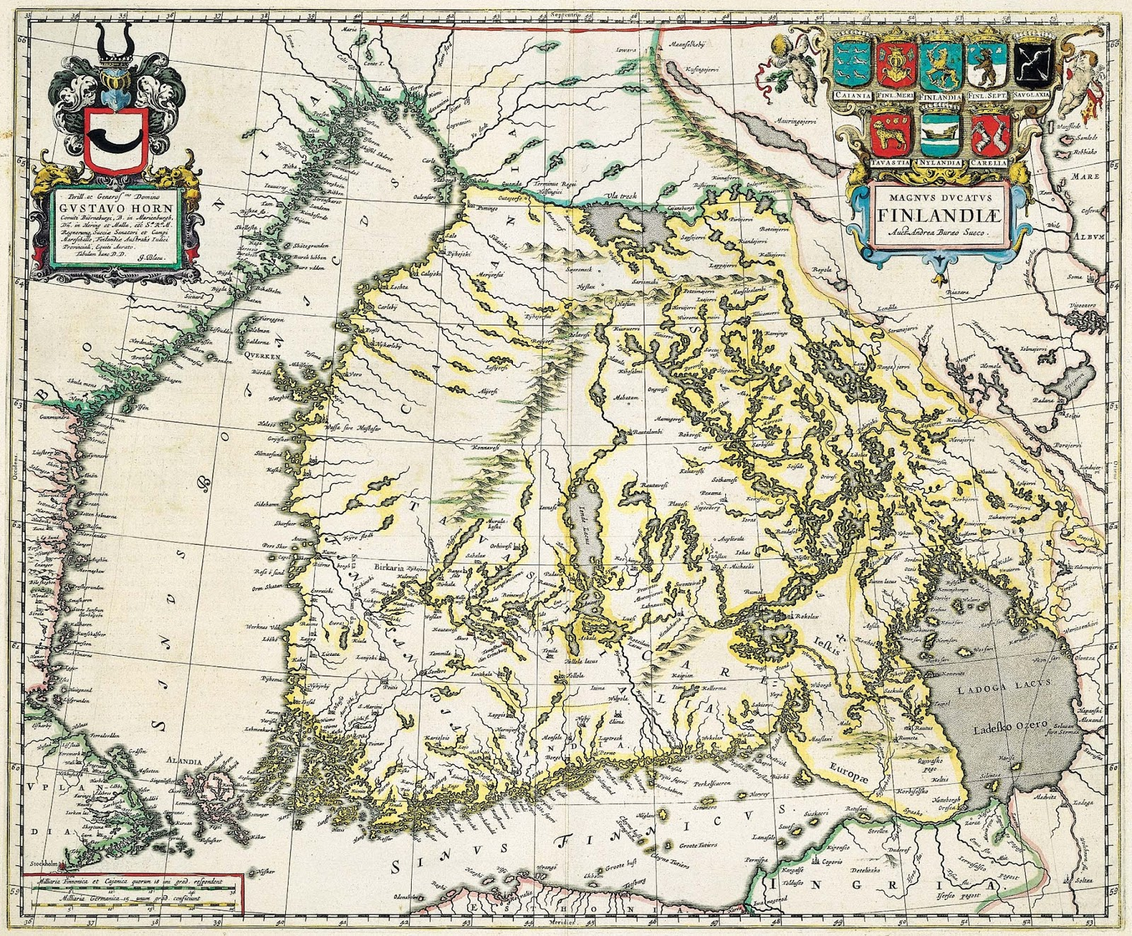 Map of Finland (1662)