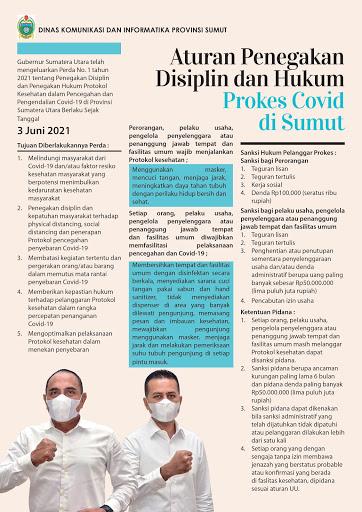 Aturan Penegakan Disiplin & Hukum Prokes Covid-19 di Sumut