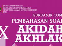 Pembahasan Soal Akidah Akhlak Semester Genap Kelas IX BAB VI Menghindari Perilaku Menyimpang dalam Pergaulan Remaja KMA 183 Tahun 2019