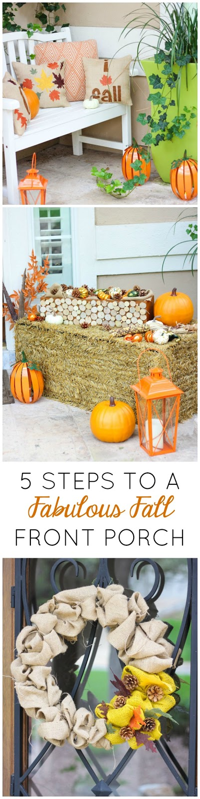 Love these simple ideas for decorating your front porch for fall!