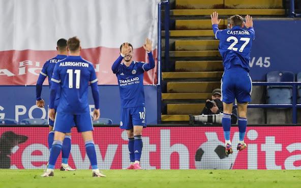 ملخص اهداف مباراة ليستر سيتي وساوثهامتون (2-0) في الدوري الإنجليزي