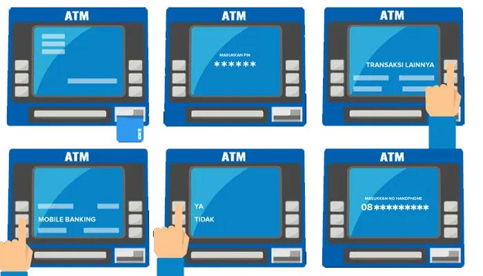 Aktivasi Mobil Banking Lewat ATM