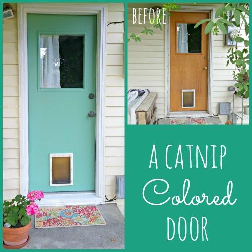 Painted Exterior Patio Door - Weekend Yard Work Series