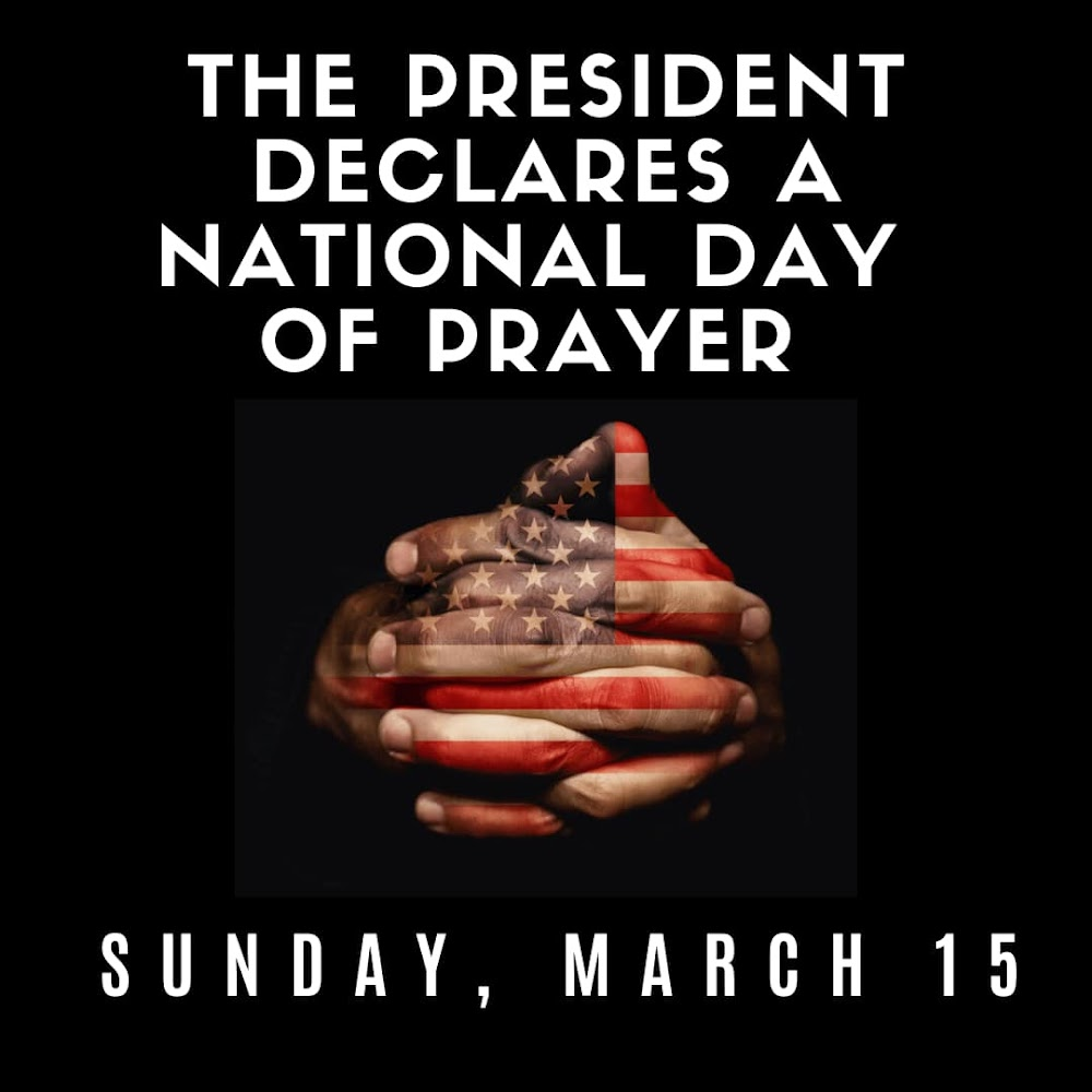 National Day of  Prayer March 15, 2020